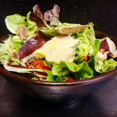 Salade Gasconne avec foie gras de canard
